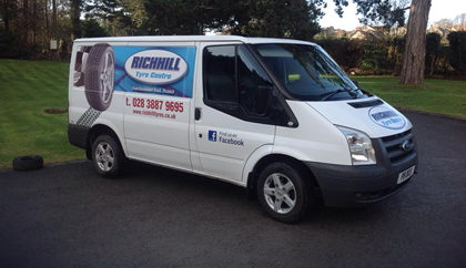 Richhill Tyres Centre Deliveries